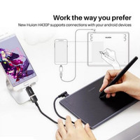 Huion H430P Pen Tablet Alat Desain Grafis Alternatif Wacom