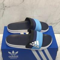 Sandal Adidas Adilette Slide Motif Blue Import