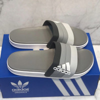 Sandal Adidas Adilette Slide On Grey Import Unisex