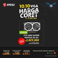 VGA CARD NVIDIA MSI GTX 1650 SUPER VENTUS XS OC 4GB DDR6
