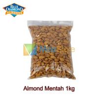 Kacang Almond Mentah Kupas Raw Whole Blue Diamond 1kg