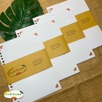 Kertas Isi Binder Loose Leaf A5 Blank | Dot | Line | Grid by dudidame