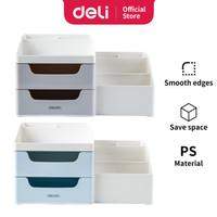 Deli Desk Organizer Business Style Laci Kotak Penyimpanan Barang 8900