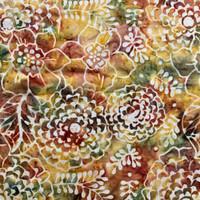 Perca kain katun batik bali - batik smoke - hijau kecoklatan