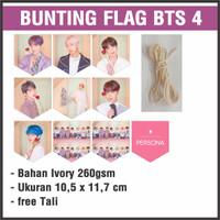 (READY STOCK) BUNTING FLAG BTS 4 - bisa custom gambar - garland flag b
