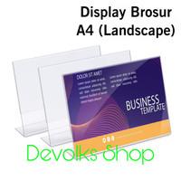 TEMPAT BROSUR / TENT HOLDER AKRILIK DISPLAY LANDSCAPE A4 TIPE L