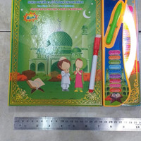 Mainan anak muslim e-book 4 bahasa lampu LED ebook