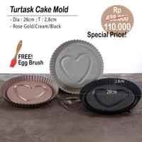 PERO TURTASK CAKE MOLD + EGG BRUSH SILICON