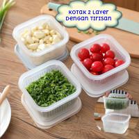 Kotak Penyimpanan Daun Bawang Putih Dgn Tirisan Fresh Box Food Contain