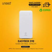 Powerbank 10.000mAh Uneed Easybox D10 Real Kapasitas Original NEW