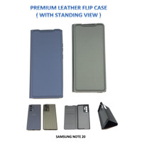 Samsung NOTE 20 Premium Leather Flip Case Cover Standing View