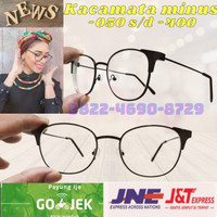 kacamata minus wanita Korea terbaru model baru kekinian frame metal