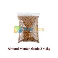 Almonesia Kacang Almond Mentah Utuh Raw Whole Grade 2 1kg