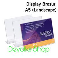 TEMPAT BROSUR / TENT HOLDER AKRILIK DISPLAY LANDSCAPE A5 TIPE L