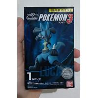 SHODO Pokemon 3 - Lucario BANDAI FIGURE POKEMON MINI ACTION FIGURE