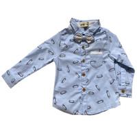 Baby Boy Skate Blue Shirt / Kemeja Baby Boy Lengan Panjang - MOEJOE