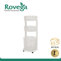 Rovega Keranjang Pakaian Premium Laundry Basket 3 Level RLB 330