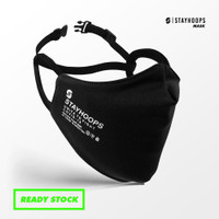 Stayhoops Masker - 2 Layer - Non Medis - ALL NEW Basic Black