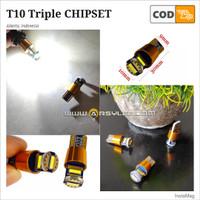 Lampu LED Senja Mundur Plat T10 Extrime Bright Triple Chipset Mobil