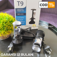 1 buah Lampu Utama LED H4 T9 Turbo Fan Mini Projie Xpander Brio Mobil