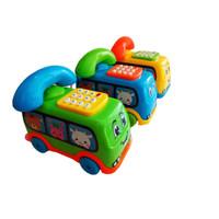 Mainan Telepon Musik Suara Seri Bus Mini