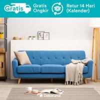 Dekoruma Hara Sofa Minimalis 3 Seater | Sofa 3 Dudukan Scandinavian - Biru