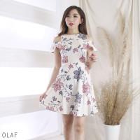 Olaf Dress Jumbo - Dress Batik Jumbo Wanita Terusan Wanita
