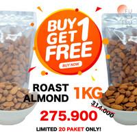 Kacang Almond Panggang 1 Kg (BUY 1 GET 1 FREE) Roast Almond California