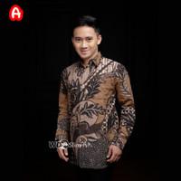 Kemeja Batik Pria Murah Lengan Panjang / Baju Batik Pria / Kemeja Pria - A - Y, M