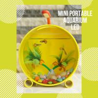 Aquarium Ikan Hias Mini Portabel Unik Lingkaran Warna Ikan Cupang