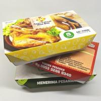 CUSTOM PRINT Paper Lunch Box Ukuran M FoodGrade|Minimum 5000 pcs