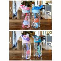 Botol Minum Anak Sedotan Motif Animal Sea Country BPA Free 480ml B818 - Ungu