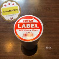 Label Rol 2 Line (10Rol) JOYKO 2 Baris untuk mesin harga MX-6600A