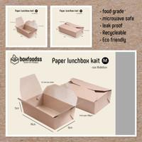 Lunch box paper - isi 100pc kraft aman untuk makanan