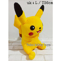 mainan anak boneka pokemon pikachu go