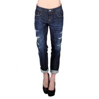 Jeans Wanita / Boyfriend 75 Med Blue Jeans 43F75L3ML - Logo Jeans