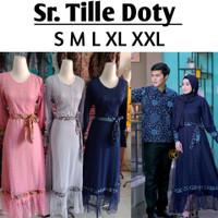 (Real Video) Sarimbit Batik Modern . Couple Kemeja Dress Batik Wanita - Navy, Sepasang