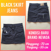 Skirt Jeans / Rok Mini Jeans Hitam