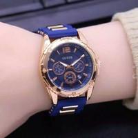 jam tangan wanita GUESS Tali karet chrono off