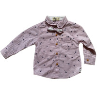 Baby Boy Long Slevees Shirt with Ribbon - MOEJOE
