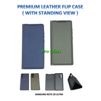 Samsung NOTE 20 ULTRA Premium Leather Flip Case Cover Standing View