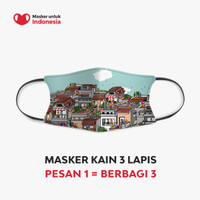 Masker untuk Indonesia x Sanchia Hamidjaja - Kain Scuba Full Printing