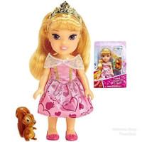 Boneka Disney Princess Petite Aurora Doll & Squirrel - 16cm