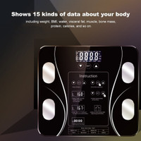 Timbangan Badan Digital BMI Body Fat Monitor Analisis