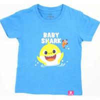 KAOS ANAK BABY SHARK FLY FISH - Baju pink fong anak - Kaos Distro