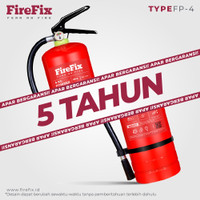FIREFIX FP4 Powder 4 Kg Tabung Alat Pemadam Api Ringan APAR Kebakaran