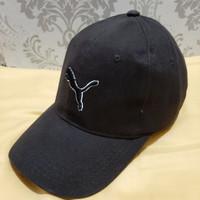 Baseball Cap Topi Pria - Motif Puma Hitam Polos