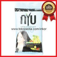 NYU CREME HAIR COLOUR NATURAL BLACK 2.00 SUPER FRUITS HAIR VITAMIN SAC