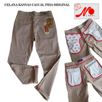 Celana Kanvas Pria Original Hight Quality Full Accessories/PROMO/COD
