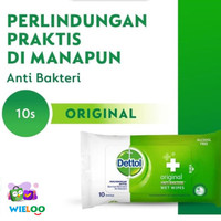 Dettol Wet Wipes Original 10s - Dettol Tissue Basah Original isi 10lbr